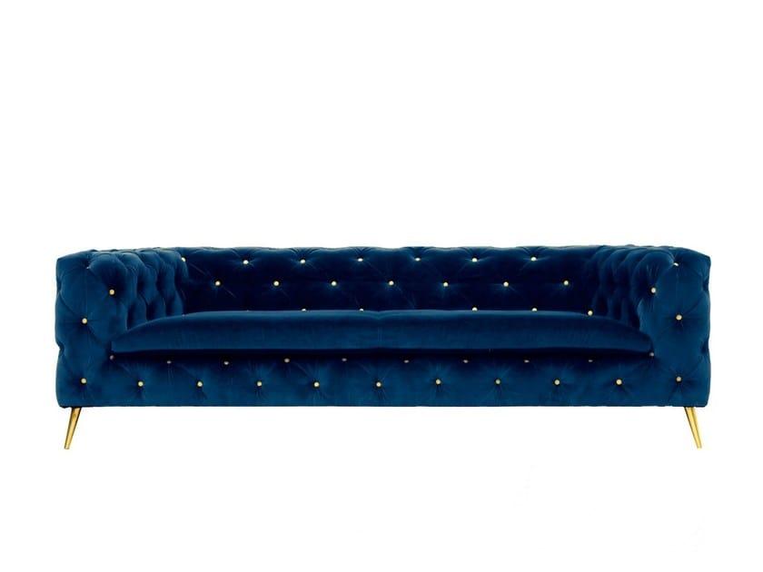 Tufted upholstered velvet sofa ATACAMA by Moanne