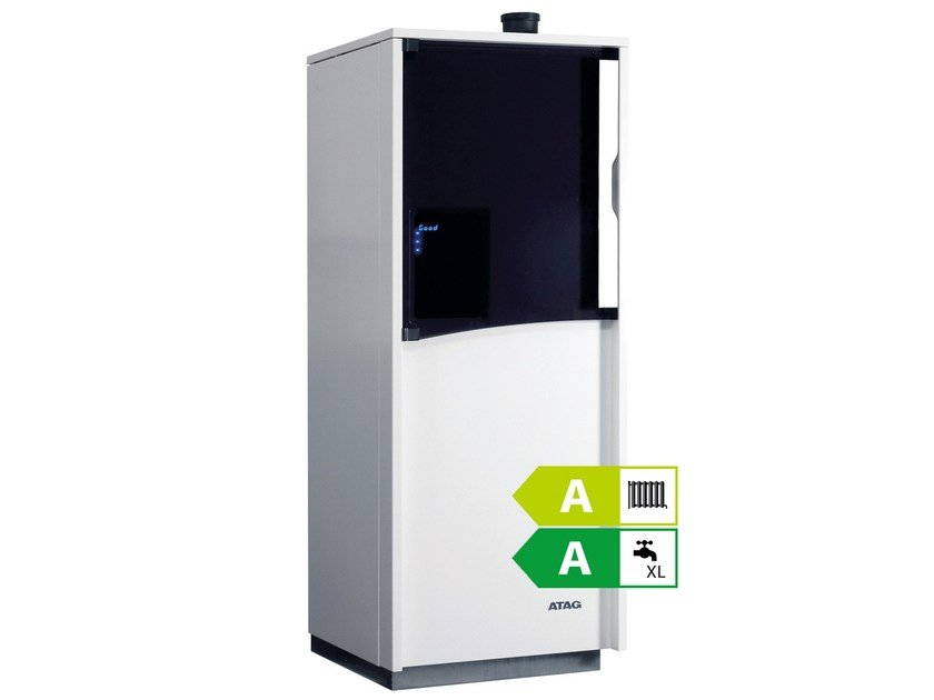 Floor-standing condensation boiler with storage tank ATAG QCC by ATAG Italia