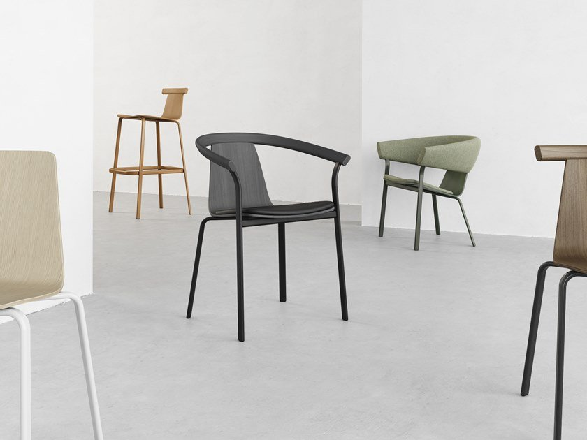 Wooden chair with armrests ATAL   Chair with armrests by ALKI