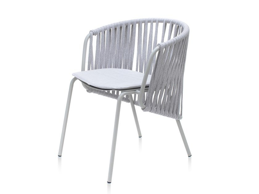 Rope garden chair with armrests ATAMAN LEISURE   Chair by Garda Furniture