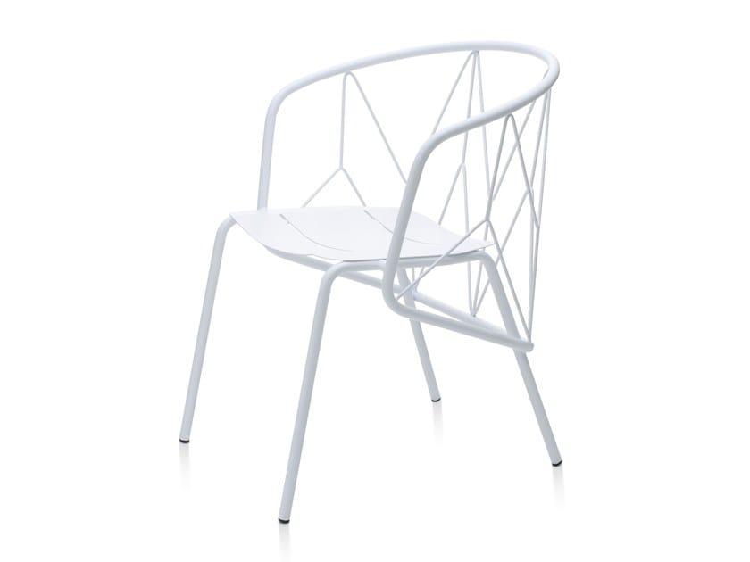 Sedia da giardino in metallo con braccioli ATAMAN MESH | Sedia by Garda Furniture