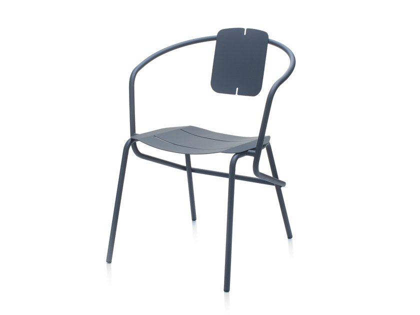 Metal garden chair with armrests ATAMAN MINIMALIST by Garda Furniture