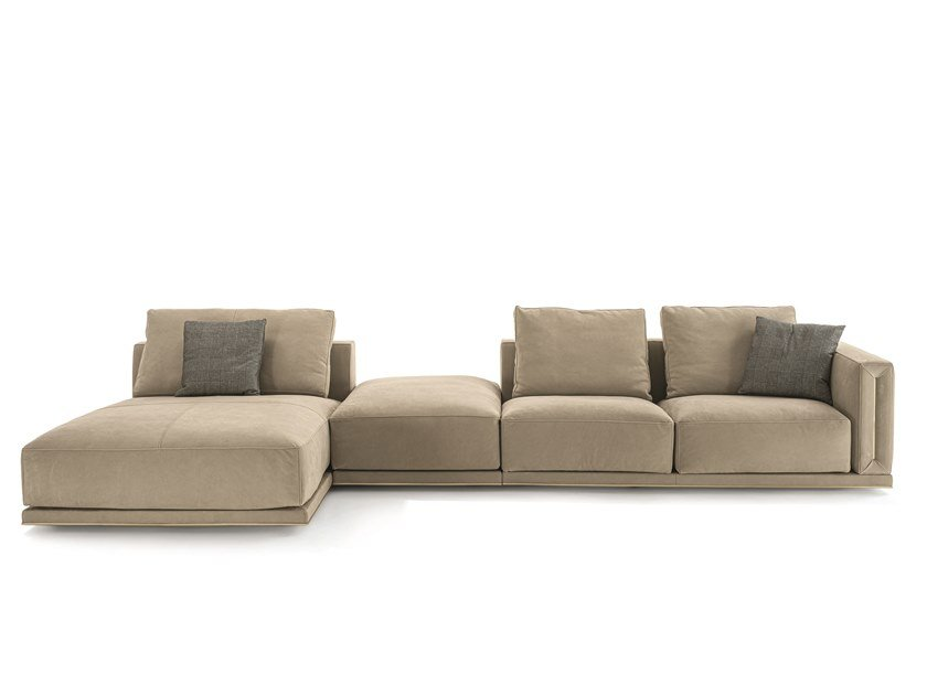 Modular leather sofa ATAR | Sofa by Longhi