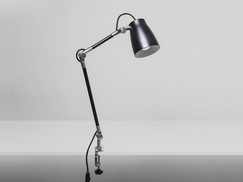 Direct light adjustable aluminium desk lamp ATELIER CLAMP by Astro Lighting