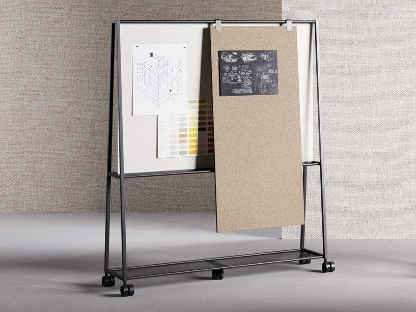 Metal office whiteboard with castors ATELIER | Office whiteboard by FANTONI