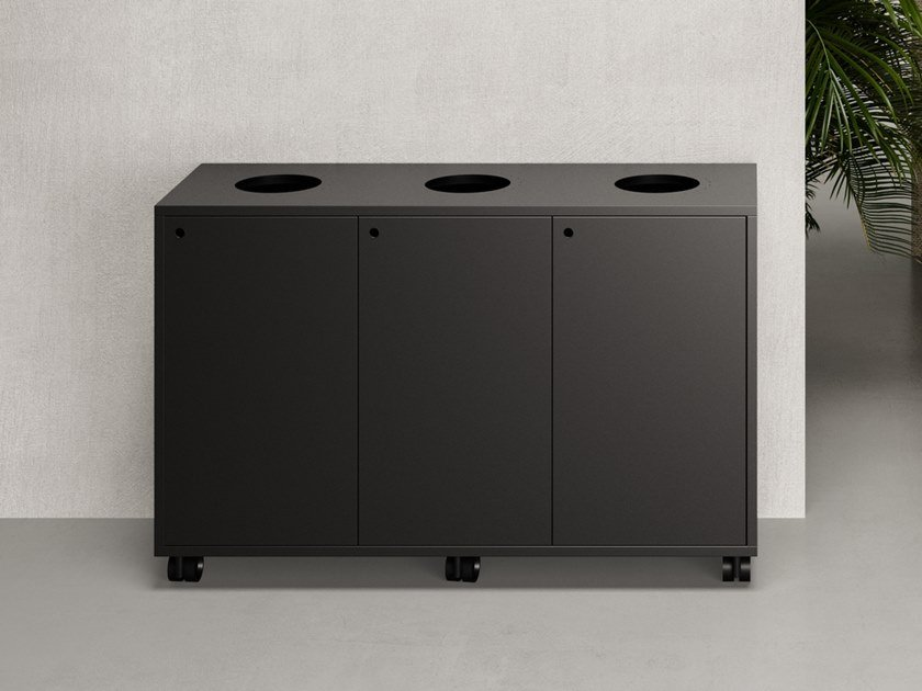 Metal waste paper bin for waste sorting ATELIER | Waste paper bin by FANTONI
