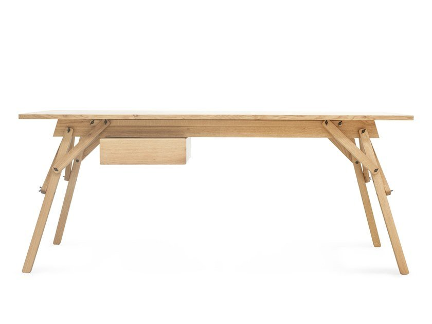 Oak writing desk with drawers ATELIER | Writing desk with drawers by UBIKUBI