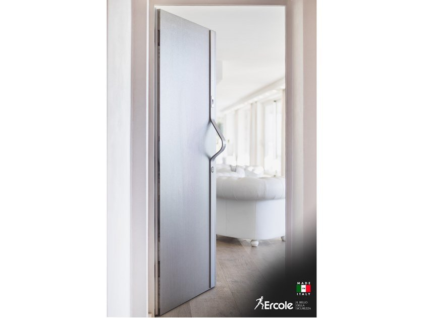 Porcelain stoneware safety door with access control ATHENA WK3 by Ercole
