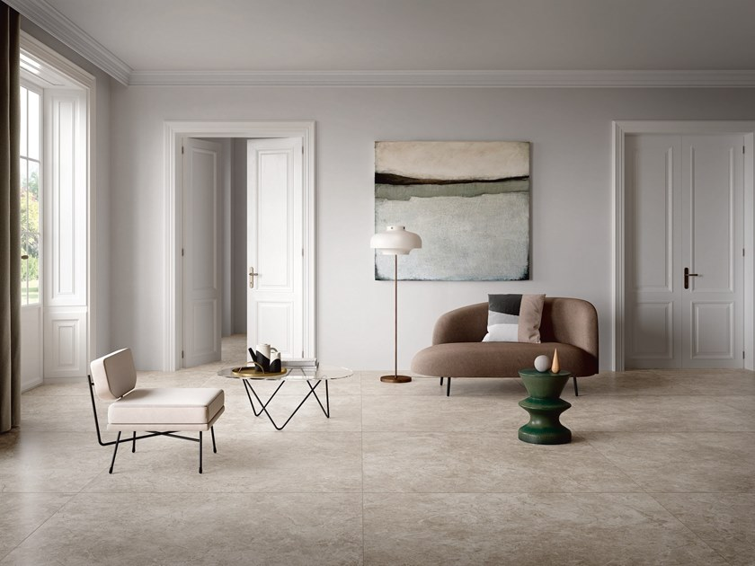 Porcelain stoneware wall/floor tiles with marble effect ATLANTIC GREY by GranitiFiandre
