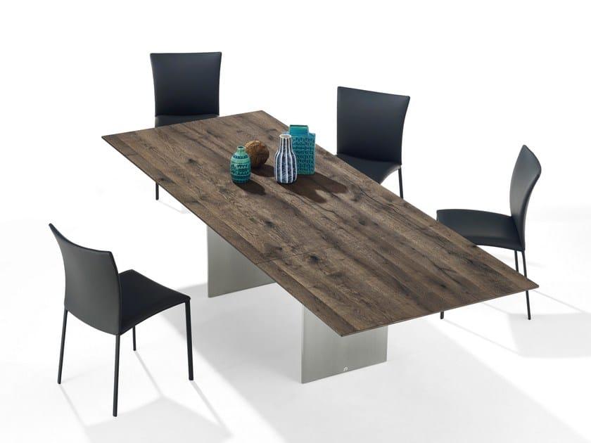 Extending rectangular English oak table ATLAS | English oak table by Draenert