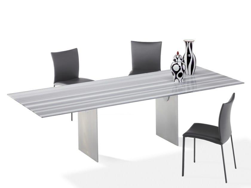 Extending rectangular stone dining table ATLAS | Stone table by Draenert