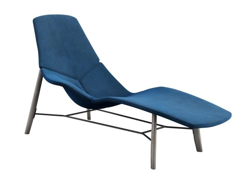 Chaise longue en tissu ATOLL By Tacchini design Patrick Norguet
