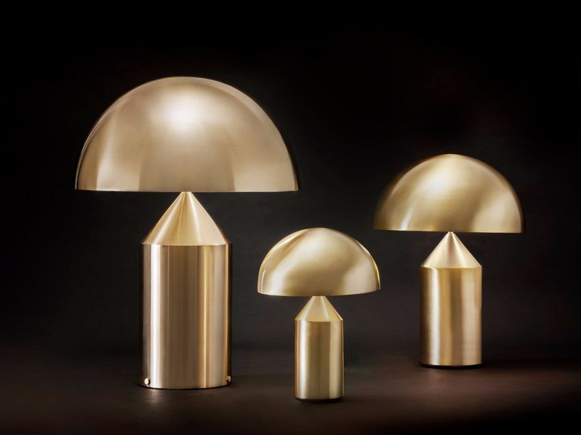 Direct Light Gold Metal Table Lamp ATOLLO   233/238/239 By Oluce