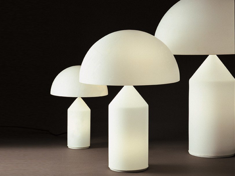 Direct light blown glass table lamp ATOLLO - 235/236/237 by Oluce