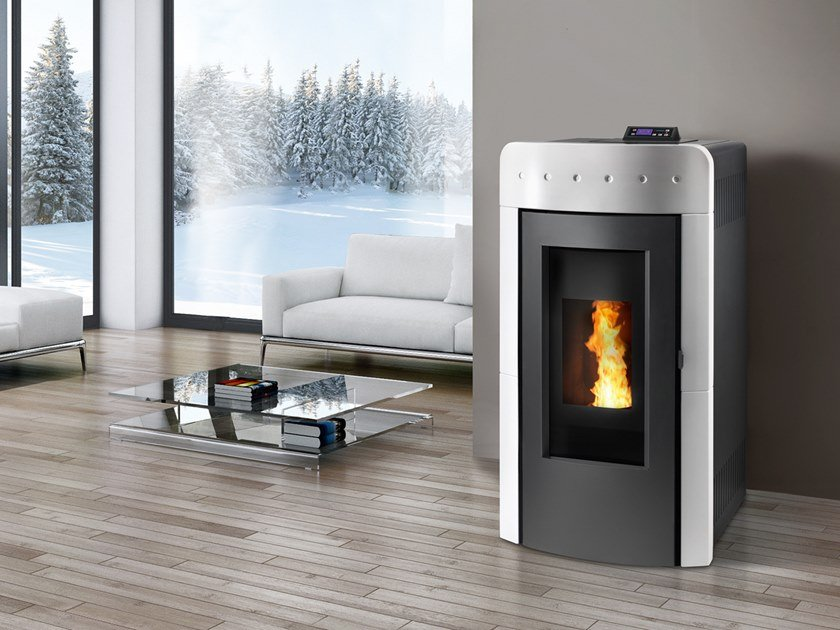 Pellet Class A+ steel Heating stove ATOLLO by CAMINETTI MONTEGRAPPA