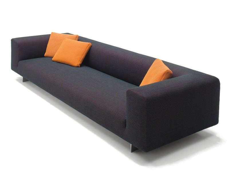 3 seater fabric sofa with removable cover ATOLLO NEXT by paola lenti