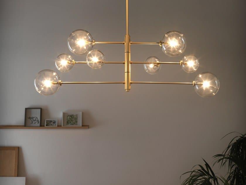 Lampada a sospensione in metallo ATOM | Lampada a sospensione by Aromas del Campo