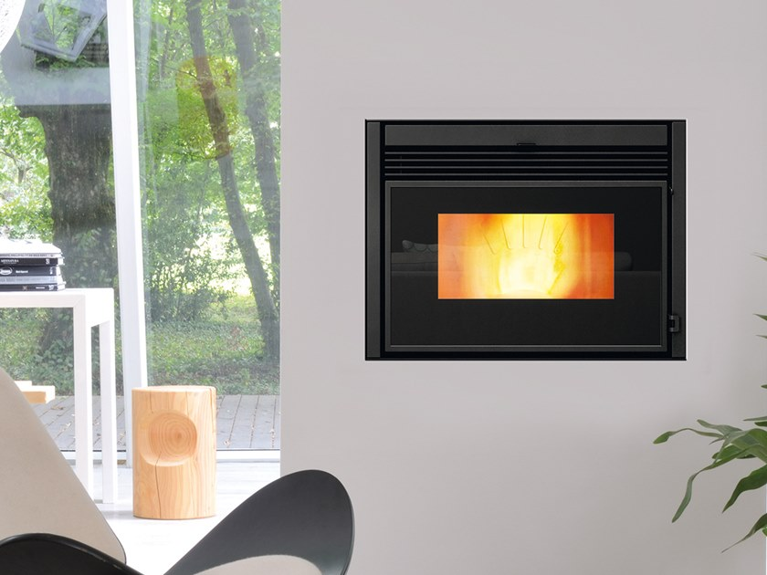 Pellet Class A+ metal Fireplace insert ATOMO EVO by CAMINETTI MONTEGRAPPA