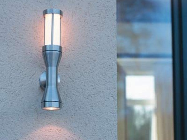 Direct-indirect light stainless steel Outdoor wall Lamp ATREX G by BEL-LIGHTING