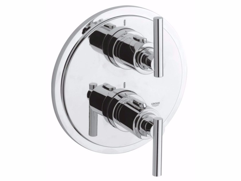 Wall-mounted thermostatic bathtub/shower mixer with diverter ATRIO CLASSIC JOTA | 2 hole bathtub mixer by Grohe