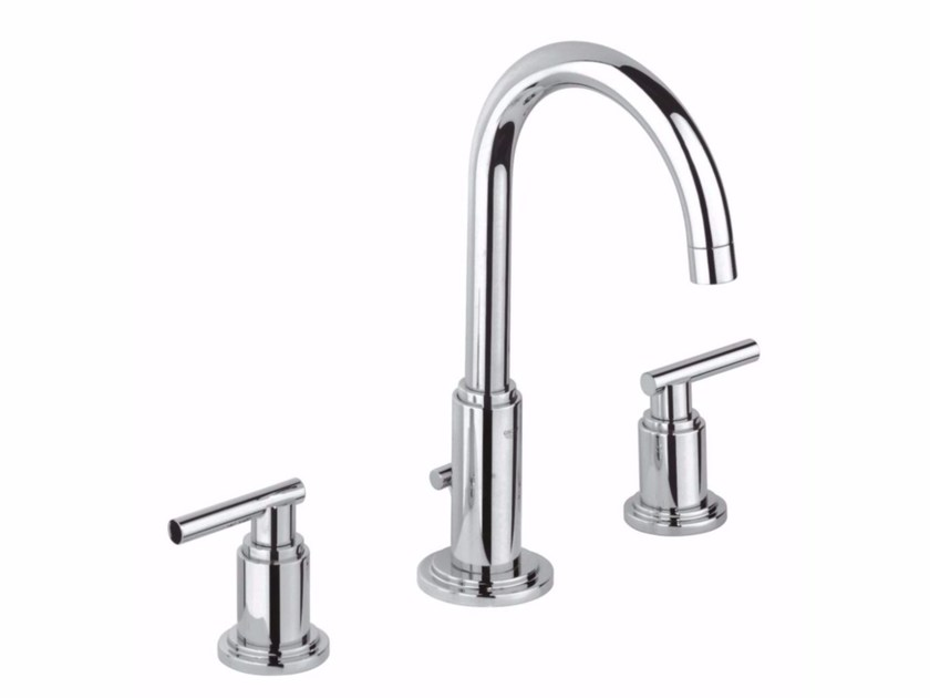3 hole washbasin tap with adjustable spout ATRIO CLASSIC JOTA | Countertop washbasin tap by Grohe