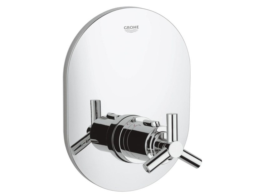 Single handle thermostatic shower mixer with plate ATRIO CLASSIC YPSILON | 1 hole thermostatic shower mixer by Grohe