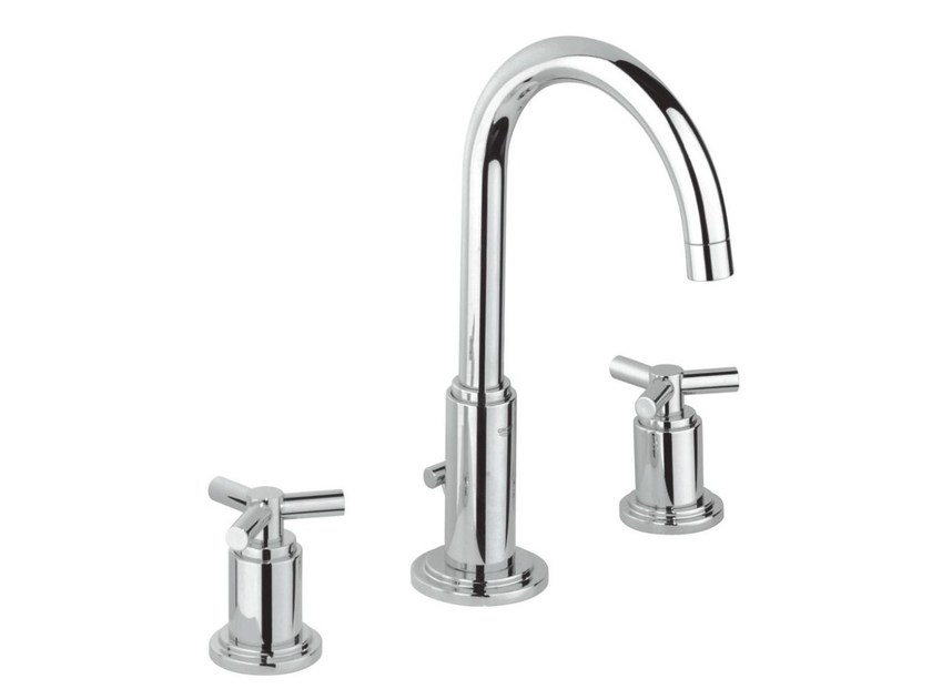 3 hole washbasin tap with adjustable spout ATRIO CLASSIC YPSILON SIZE M | Countertop washbasin tap by Grohe