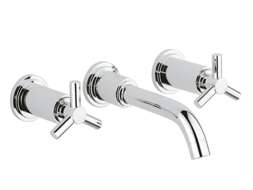 3 hole washbasin tap without waste ATRIO CLASSIC YPSILON SIZE S | Wall-mounted washbasin tap by Grohe