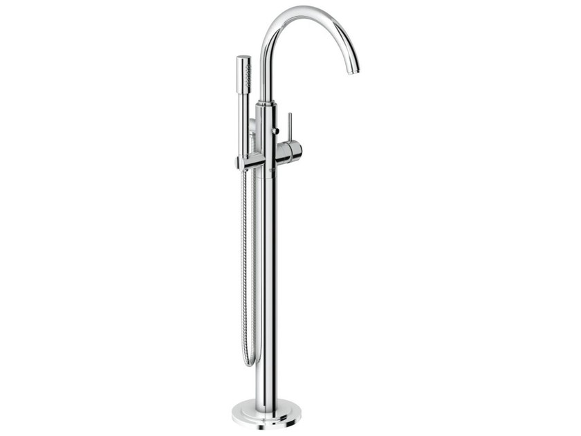 Single handle bathtub /shower mixer with hand shower ATRIO ONE C | Floor standing bathtub mixer by Grohe