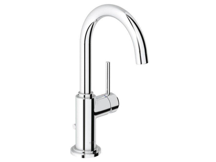 Single handle washbasin mixer with pop up waste ATRIO ONE C SIZE L | Countertop washbasin mixer by Grohe
