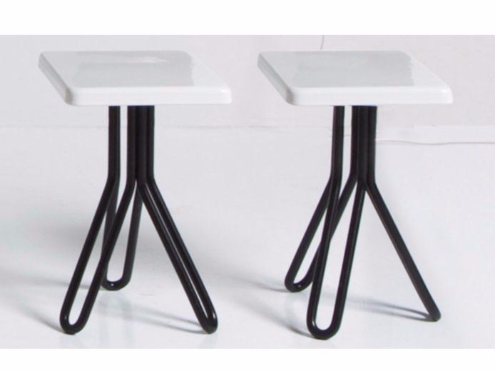 Ceramic stool / coffee table ATTACH | Square coffee table by GSG Ceramic Design