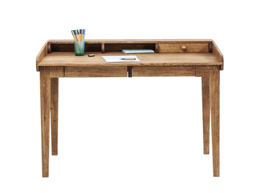 Solid wood secretary desk with drawers ATTENTO by KARE-DESIGN