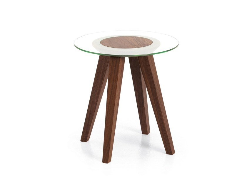 Contemporary style round glass coffee table ATTESA | Glass coffee table by Cizeta L'Abbate