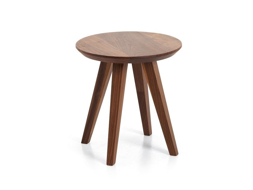 Round wooden coffee table ATTESA | Wooden coffee table by Cizeta L'Abbate