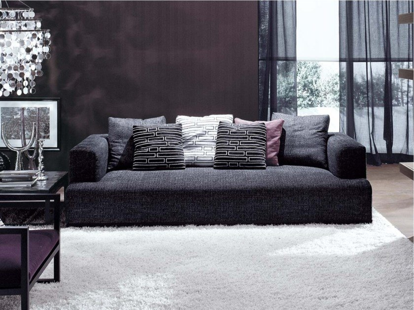 Upholstered 3 seater fabric sofa ATTICO | 3 seater sofa by Frigerio Salotti