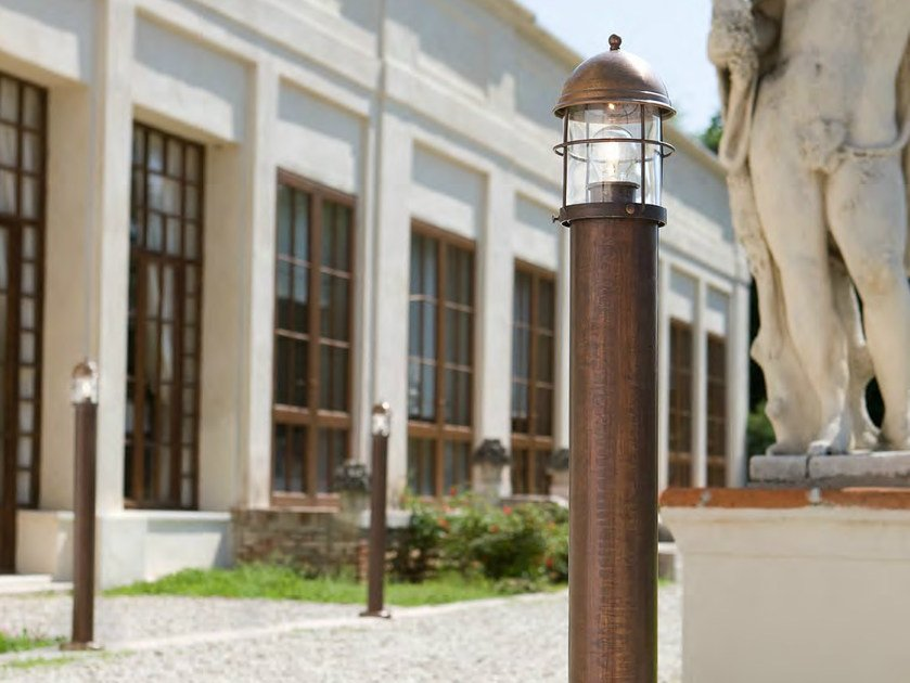 Metal bollard light for Public Areas ATTILA | Bollard light by Aldo Bernardi