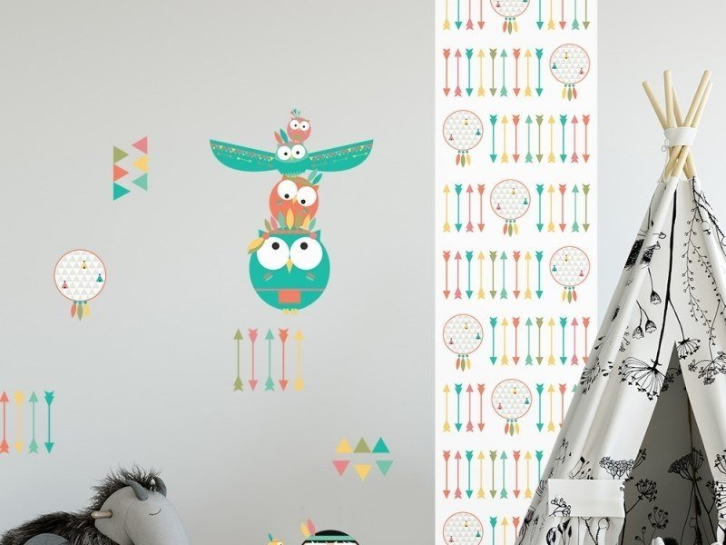 Fabric kids wallpaper ATTRAPES by ACTE-DECO