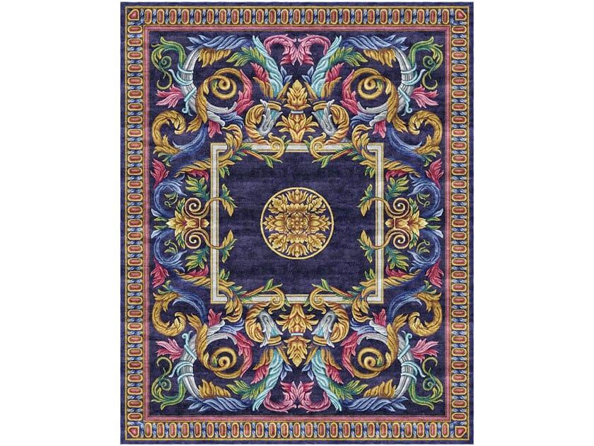 Handmade rectangular rug AUBUSSON HERALDY HERITAGE by Tapis Rouge