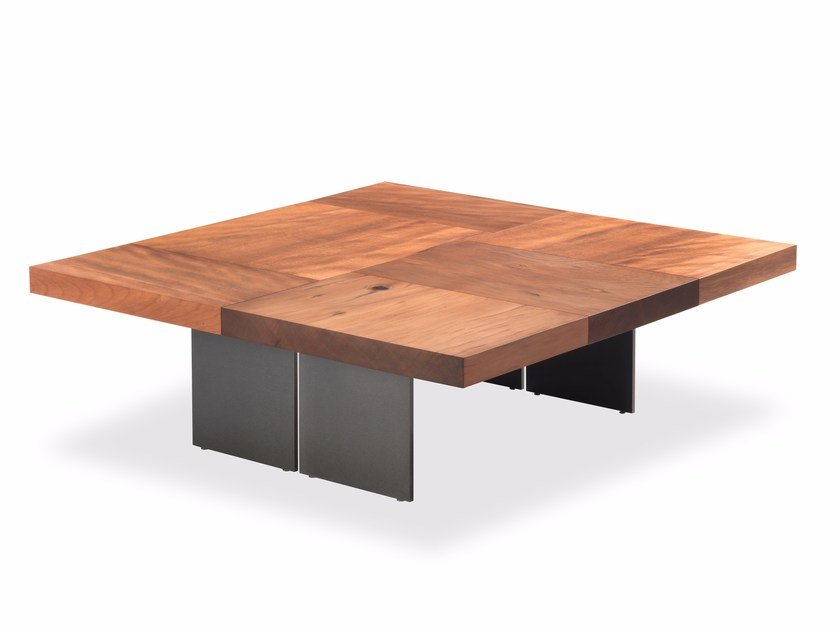 Kauri wood coffee table AUCKLAND BLOCK by Riva 1920