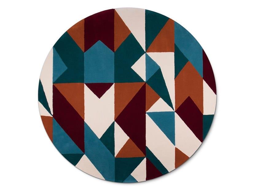 Handmade round wool rug AUDREY | Rug by Delightfull