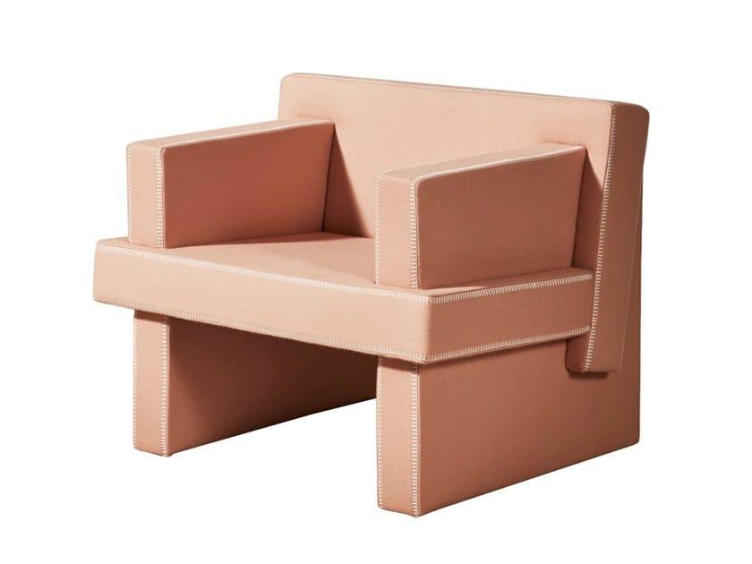 Fabric armchair with armrests AUGUST | Armchair by DesignByThem