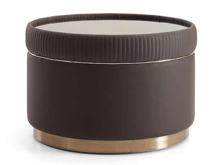 Round leather coffee table AUGUSTA | Coffee table by VOLPI