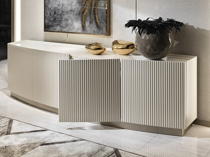 Lacquered sideboard with doors AUGUSTUS by Visionnaire