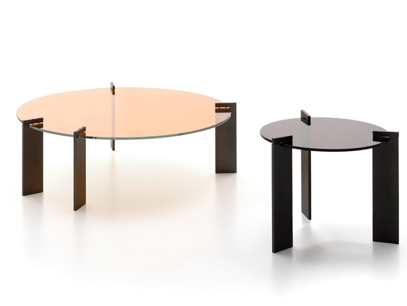Round glass coffee table AULOS by Ditre Italia