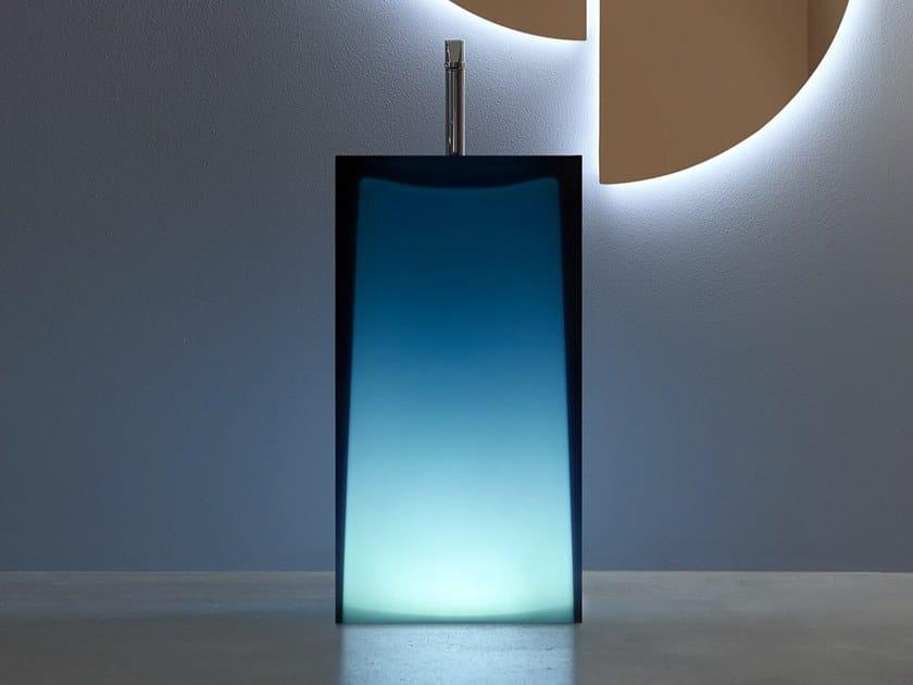Lavabo freestanding in Cristalmood® AURA by Antonio Lupi Design
