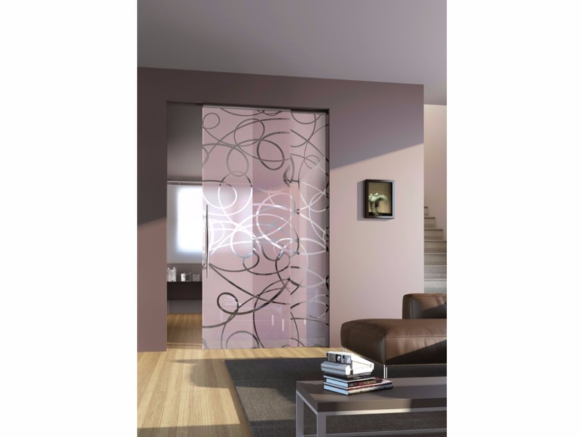Glass Pocket Sliding Door AURA | Pocket Sliding Door By Casali
