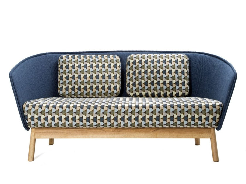 2 seater fabric sofa AURA WOOD by Inno