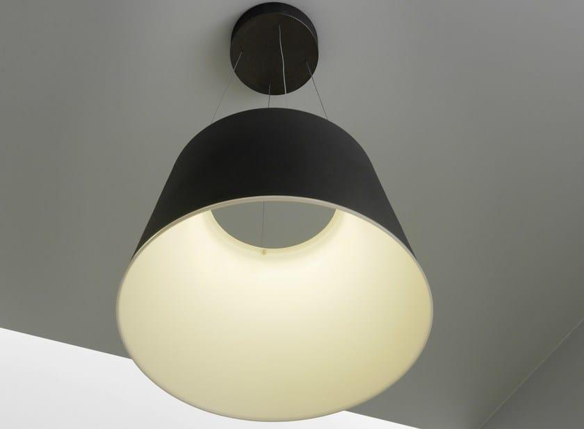 Aluminium pendant lamp AUREA by FontanaArte