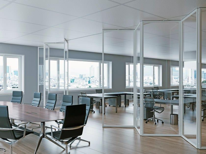 Parete a libro in alluminio e vetro AUREA ZIP by ANAUNIA