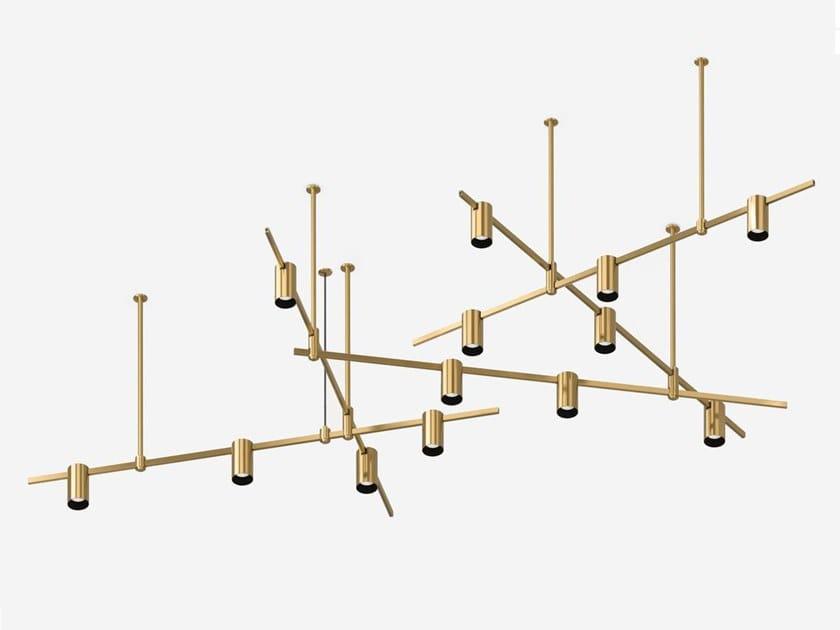 Illuminazione a binario a LED in ottone satinato AUROOM CROSS LINE by Centrsvet